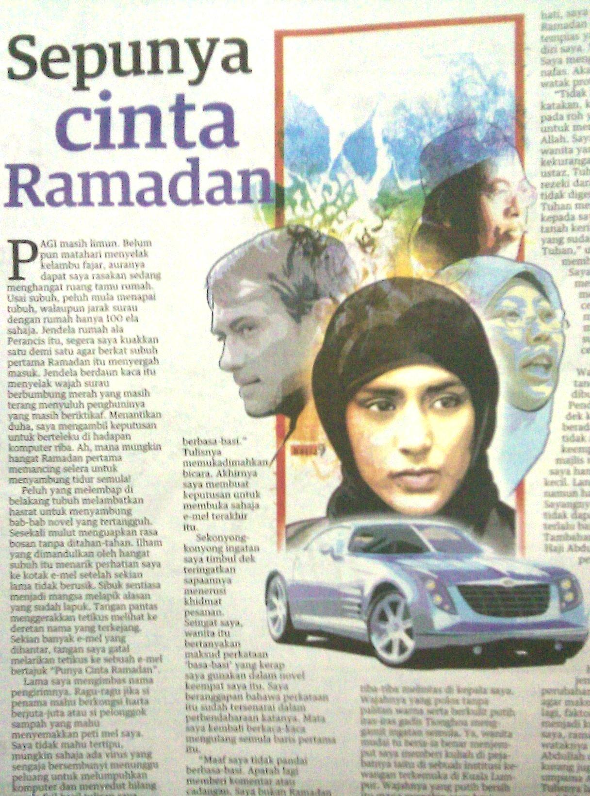 """mel seorang pembaca setelah mengulit novel """"Punya Cinta Ramadan"""